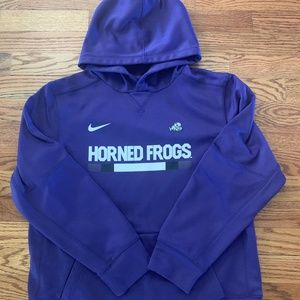 Boys TCU Horned Frogs Purple Hoodie XL